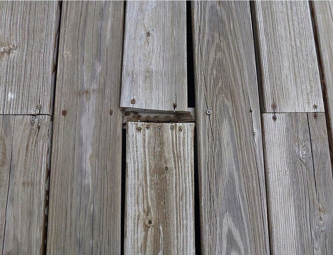 Weathered deck