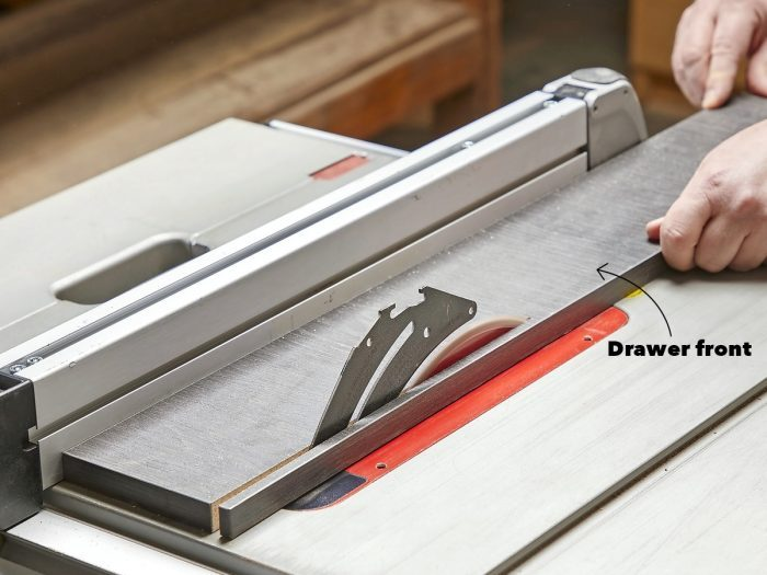Cut down doors and drawers