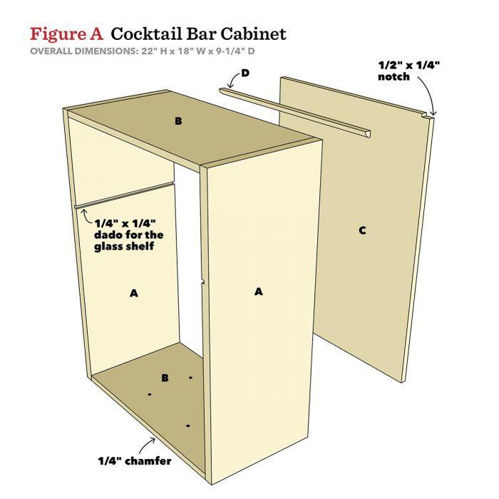 Bar Cabinet Diagram