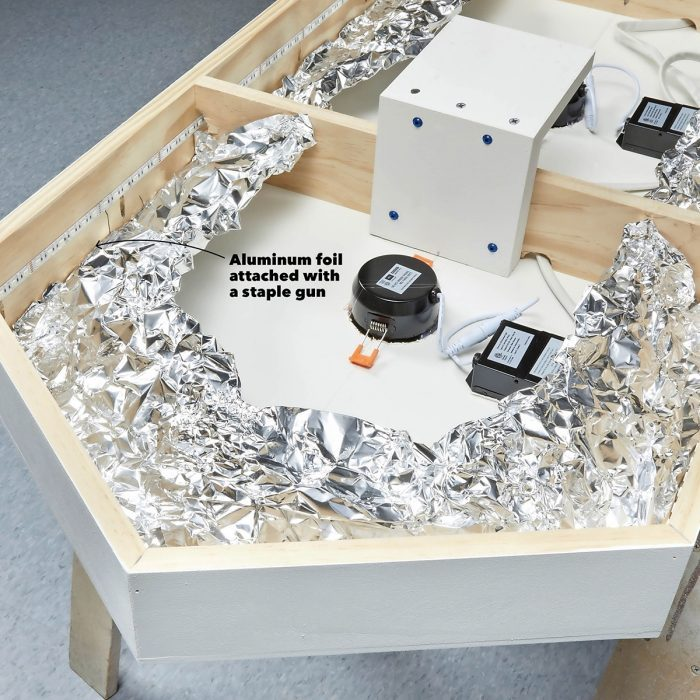 Create a special effect with aluminum foil