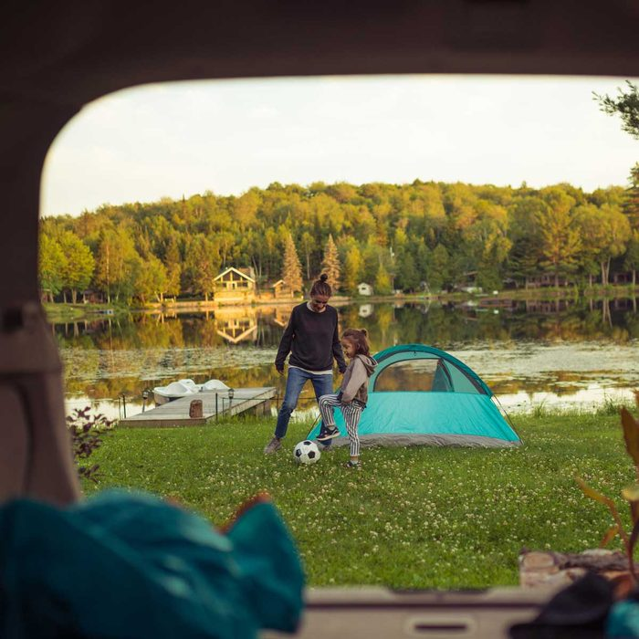 Camping And Soccer
