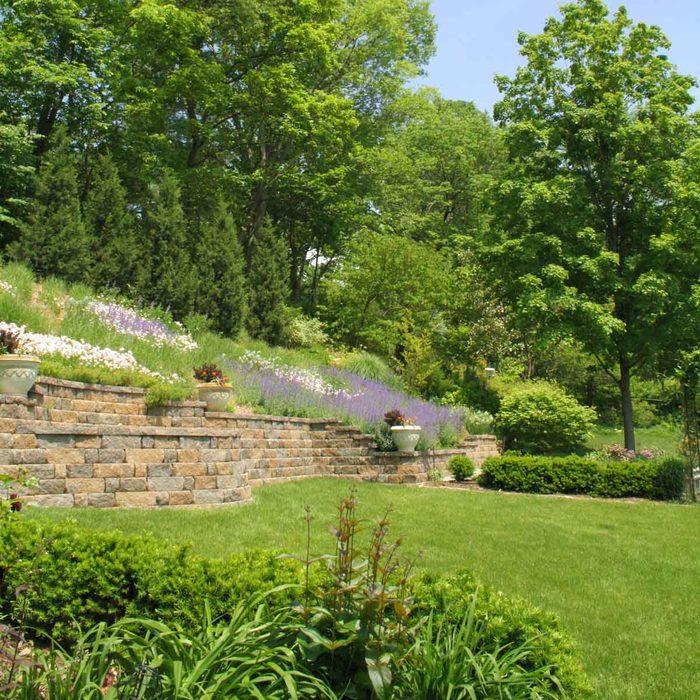 Hillside Retaining Wall