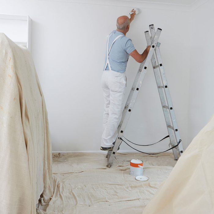 Painting Over Dropcloths