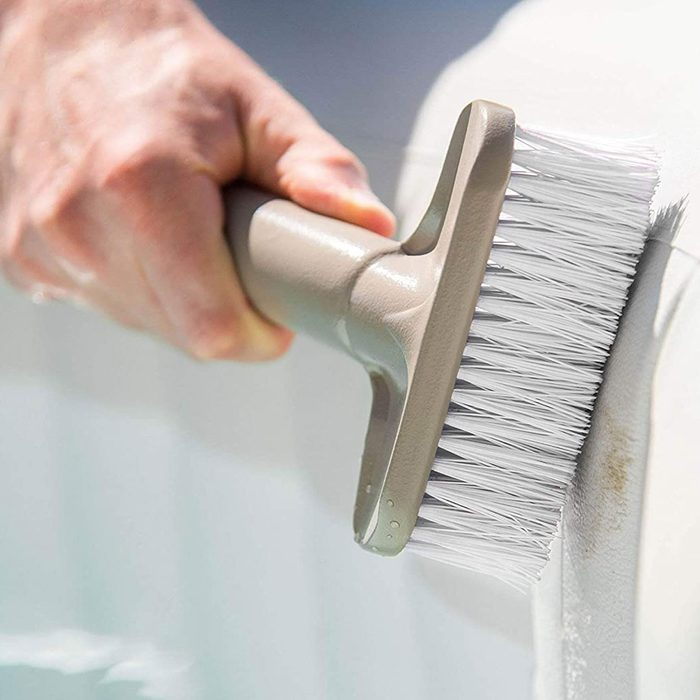 brush from hot tub cleaning kit