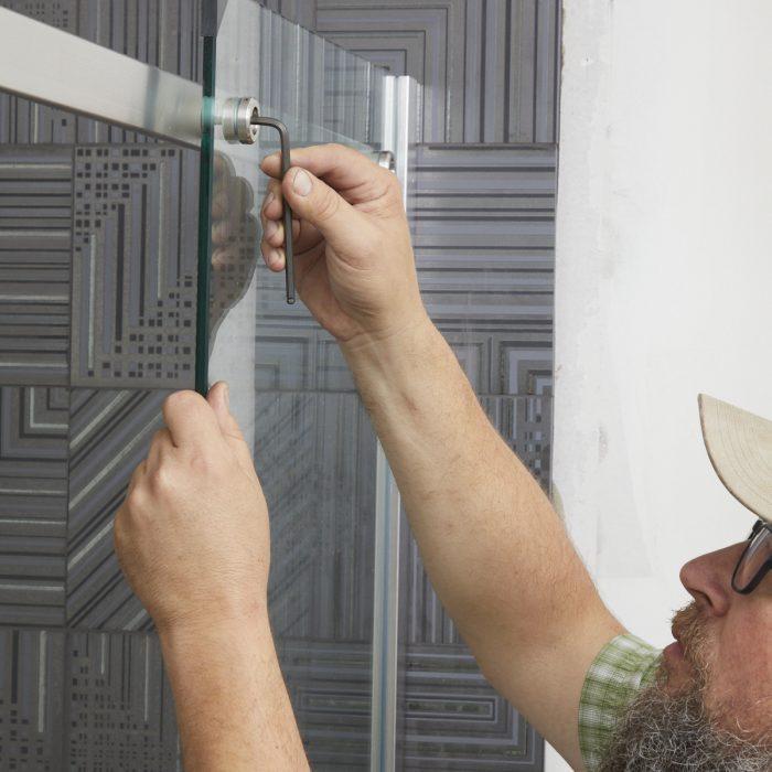Installing a shower door