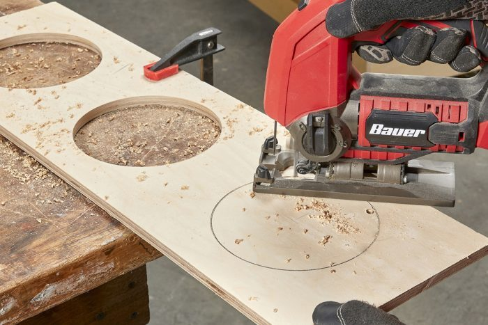Cutting holes with a jig saw