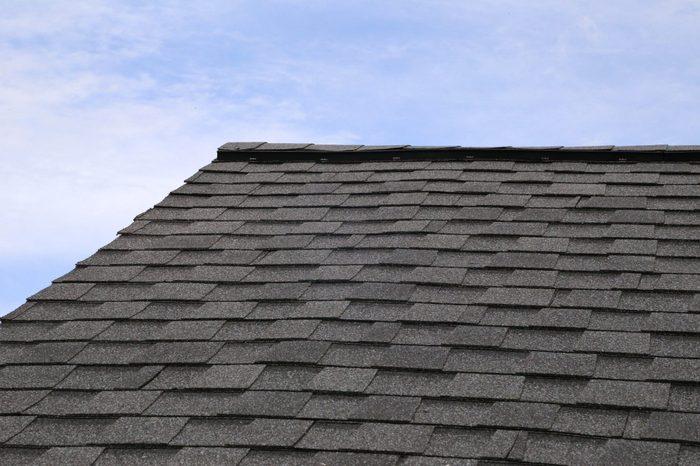 Tab styled asphalt roof shingles