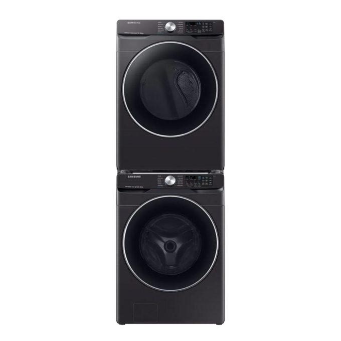 Samsung Black Stainless Steel Laundry Set