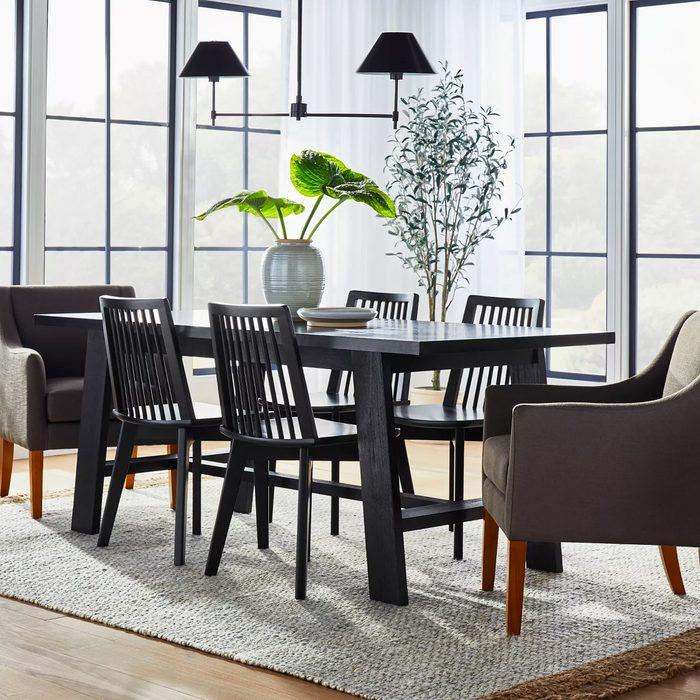 Black Wood Dining Table