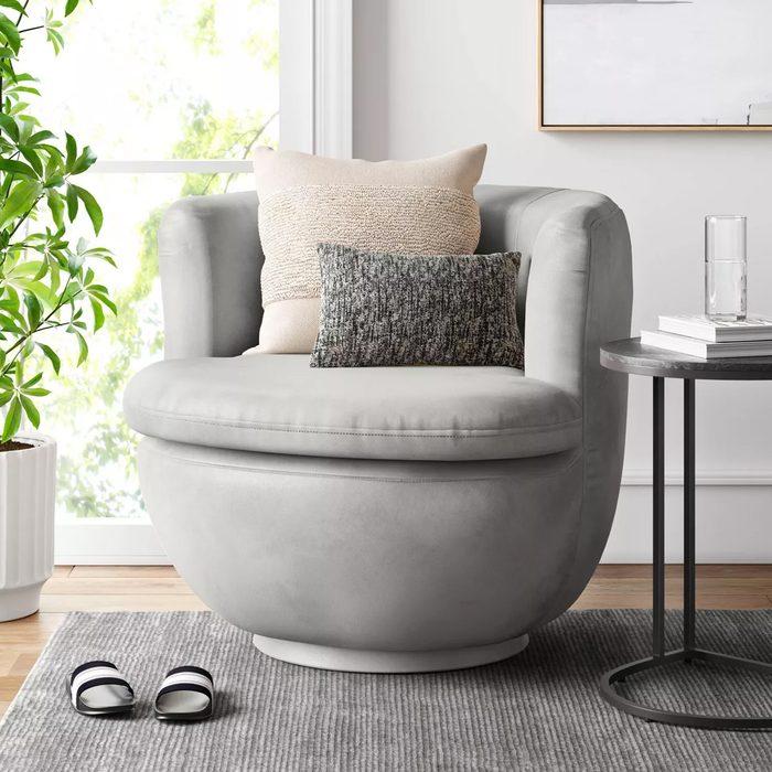 Dorton Round Swivel Barrel Chair