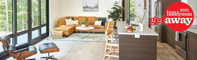 Getaway Interior Living Room Kitchen