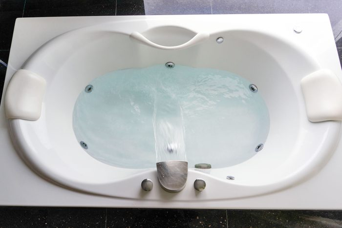 whirlpool bathtub from above