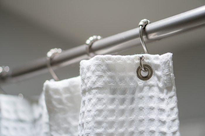 clean cloth shower curtain
