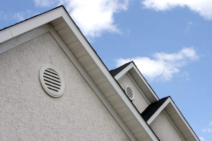 stucco exterior of house