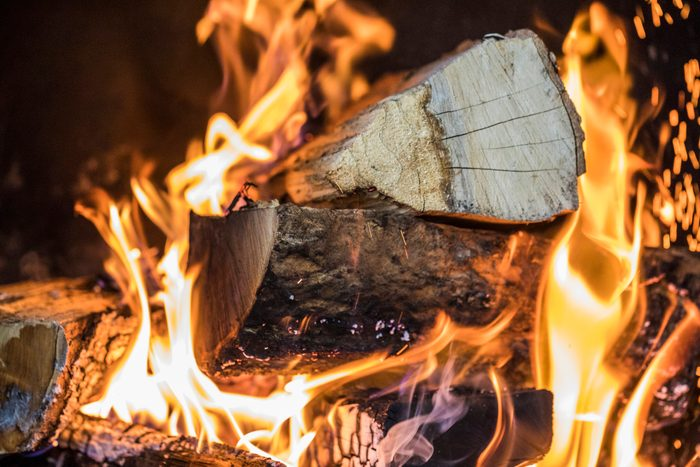 fire wood burning