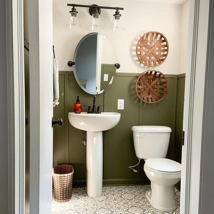 Decorated Half Bathroom