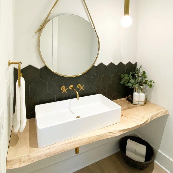 Floating Vanity in half bathroom